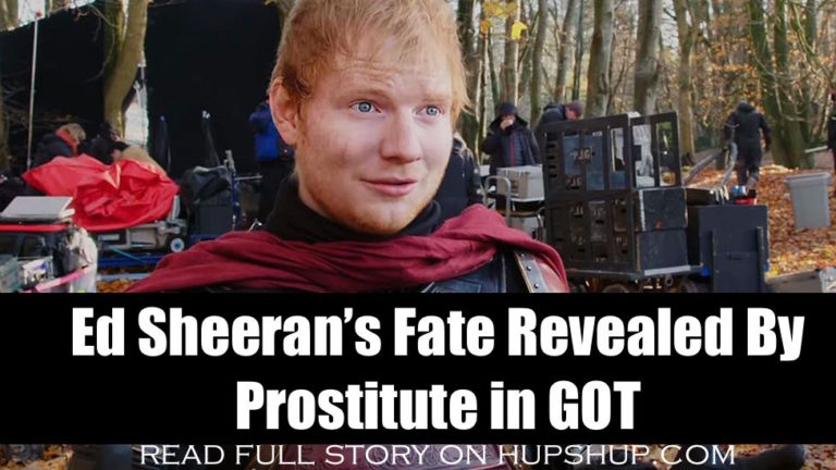 Ed Sheeran's Fate Revealed By Prostitute In Game Of Thrones Season 8 Opener