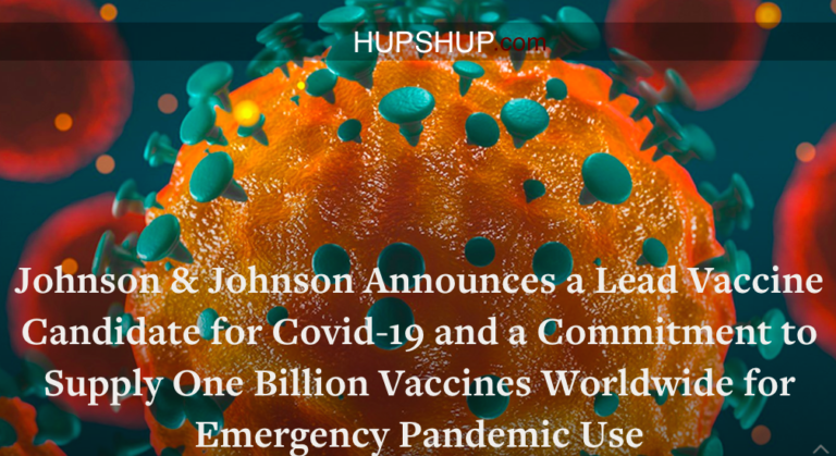 Johnson & Johnson promises coronavirus vaccine by September – Stocks went up by 8%